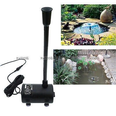 Solar Powered Submersible Fountain Pond Brushless Water Solar Pump Watering Kit