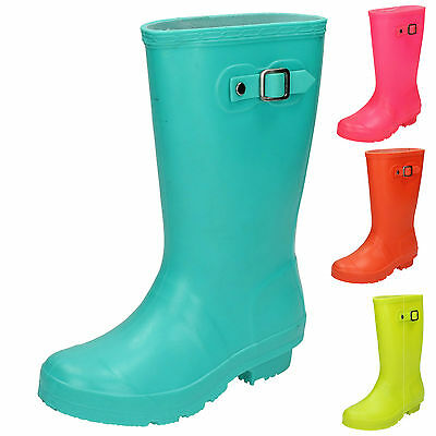 WHOLESALE Childrens Side Buckle Wellingtons / Sizes 10x2 / 16 Pairs / X1198