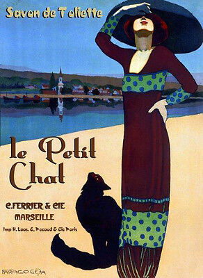 Glycya Soap Ad Butterflies Lovely Gal Vintage French Poster Repo FREE S//H