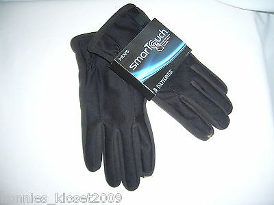 "Men's Isotoner ""Smartouch"" Touchscreen Compatible Gloves - Black Size Large -Nwt"