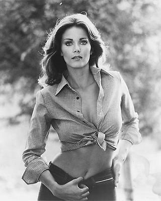 Lynda Carter very sexy cleavage in shirt tied at waist Wonder Woman 24X30 Poster