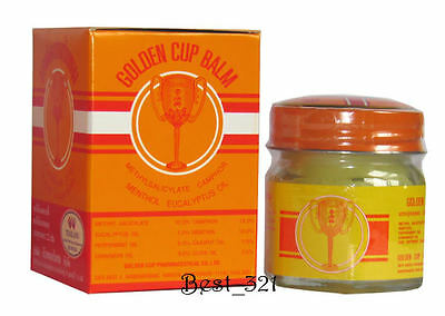 Golden Cup Balm relief aches and pains 2g or 4g or 8g, or 12g, or 22g, or 50g