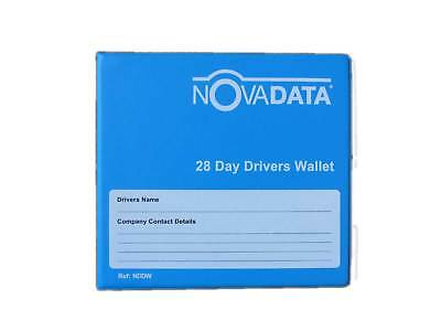 Drivers 28 day tachograph storage wallet with weekly envelopes