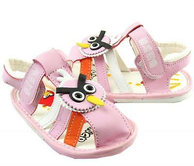 So Cute Summer Pink Faux Leather Little Bird Kids Toddlers Girls Sandal Shoes