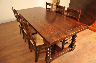 Ladderback Chairs & Refectory Table Kitchen Set Dining Farmhouse Furniture