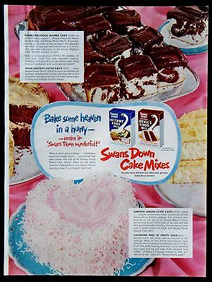 Vintage 1952 Swans Down Cake Mixes Recipes Magazine Ad