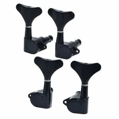 Electric Bass Guitar Tuning Pegs Keys Tuners Machine Heads Sealed 2R2L Black
