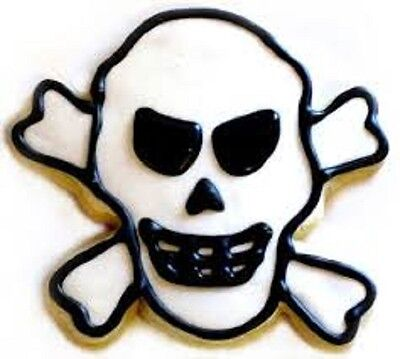 SKULL & CROSSBONES cookie cutter PIRATE PARTY