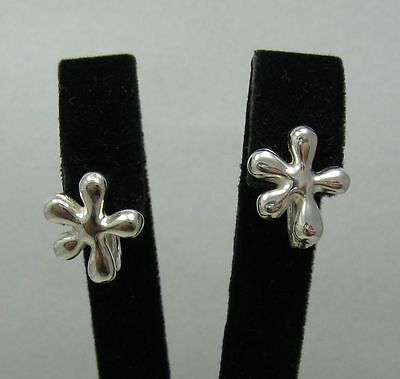 Stylish Small Sterling Silver Earrings Solid 925 French Clip New
