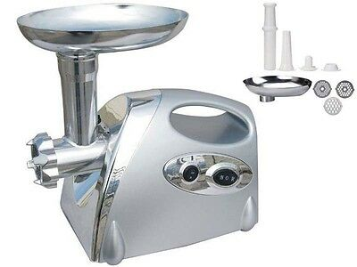 Brand New Stainless Steel Electric Mincer Sausage Maker Meat Grinder S/s 1200W
