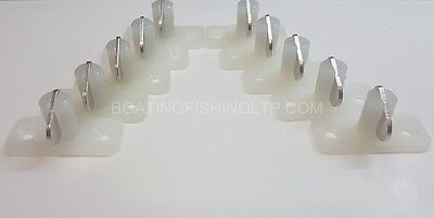 Stayput Fasteners Horizontal Double White with s/Steel tongue x 10 - 12189