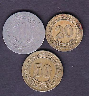 3 ALGERIA DIFFERENT COINS,