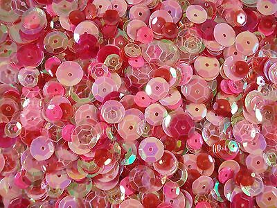 Sequins Cup Pink Mix Asst. Sizes 20g Mixed Cupped Dancing Costumes FREE POSTAGE
