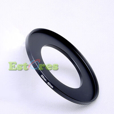 52mm-82mm 52-82 mm 52 to 82 Metal Step-Up Lens Filter Ring Adapter Black