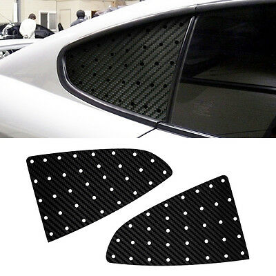 Quarter Glass Sports Mask Carbon Black Decal Stickers for HYUNDAI 02-08 Tiburon