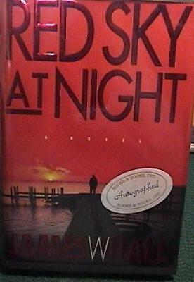 SIGNED 1st EDITION RED SKY AT NIGHT JAMES W HALL HARD COVER JACKET & MYLAR EXCEL