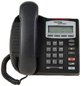 Nortel IP Phone 2001 i2001 VOIP Black + DC adapter
