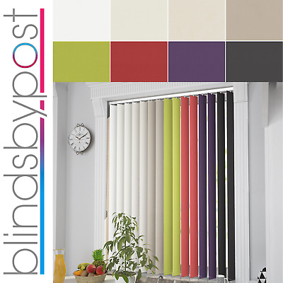 Made to Measure  BLACKOUT Thermal Fabric Complete Vertical Blinds - 8 Colours!