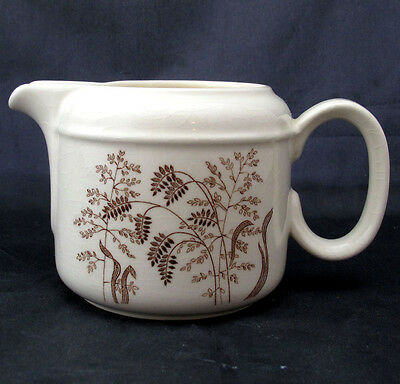 Jg Meakin Windswept Creamer 10 Oz Brown Wheat Design On Cream