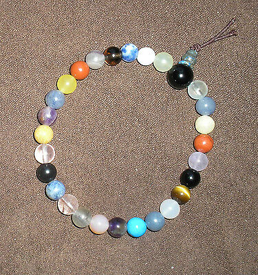 27 bead Prayer mala: Mixed Healing 7mm Gemstones with guru beads