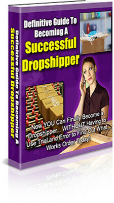Successful Drop shipper eBook on CD Disc