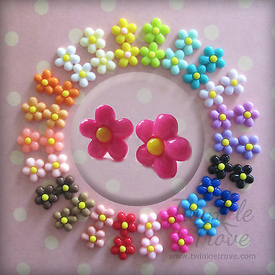 Colour POP Daisy Stud Earrings. Cute and kitsch. Many Colours to choose:-)