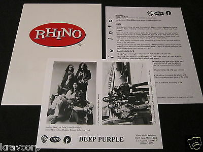Deep Purple 'Who Do We Think We Are' 2002 Reissue Press Kit—Photo