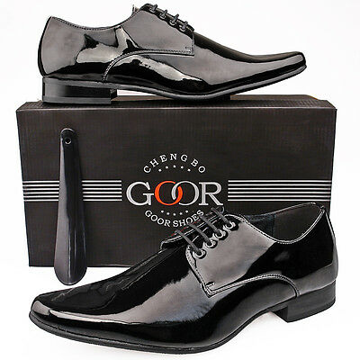 Mens Patent Wedding Shoes Leather Lined Formal Dress 6 7 8 9 10 11 12