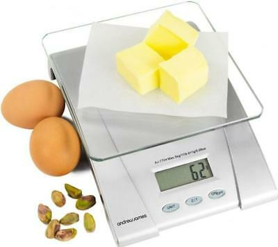 Andrew James 5KG Electronic Digital Kitchen Scales Food Weighing Postal Scale