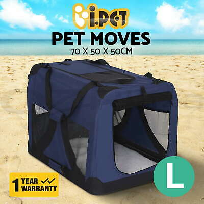 Pet Soft Crate Dog Cat Portable Carrier Travel Cage Kennel Foldable Large BU