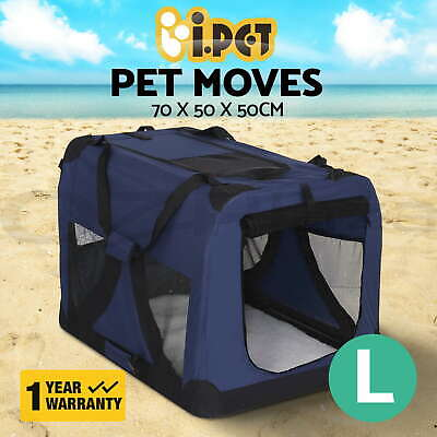 iPET Pet Soft Crate Dog Cat Portable Carrier Travel Cage Foldable Large BU