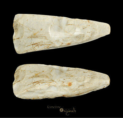 DANISH NEOLITHIC STONE AGE THICK BUTTED AXE axehead tool 025040
