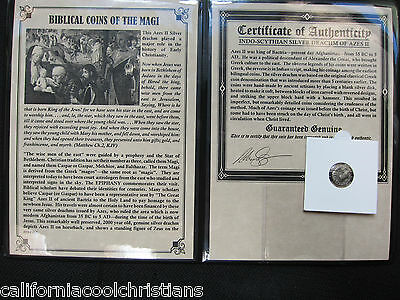 SILVER 'BIBLICAL COINS OF THE MAGI' in large Album &COA