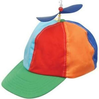 4fe96a10512 Propeller Beanie Hat Cap Multi-Color Clown Costume Hat Blue Yellow Red  Orange