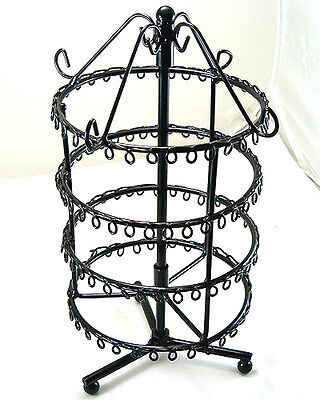 black Jewelry Holder Display Rack For Earrings 75 Pairs d020