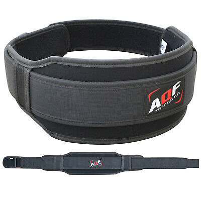 AQF Weight Lifting Belt Gym Training Back Support Neoprene Lumber Pain Fitness