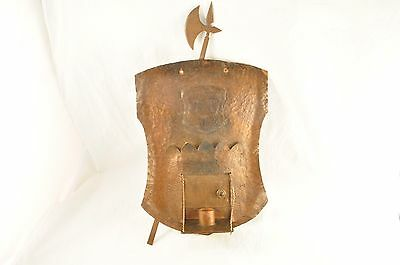 Vintage Arts and Crafts Hammered Copper Wall Sconce