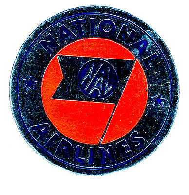 1950s National Airlines Luggage Label NAL