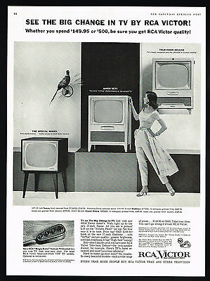 1955 RCA Victor TV Television Big Changes Remote Control Print Ad