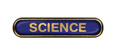 Science School Badge (Bar) Resin Domed Choice of Colour (Gel Domed)