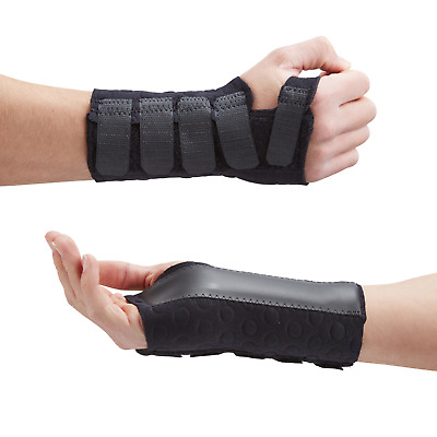 Stomatex Black Wrist Brace Support Splint Fractures, Carpal Tunnel Sprain Pain