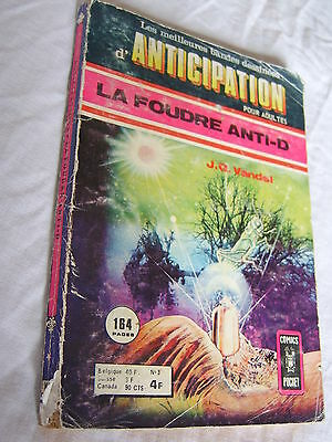 rare BD ANTICIPATION no 3 -comics pocket-1975 petit format - port gratuit