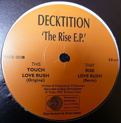 """Decktition The Rise E.P. 12"""" Trade 1993"""