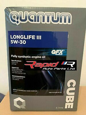Quantum Longlife 3 5W-30 Fully Synthetic Engine Oil 5 Litre Bottle
