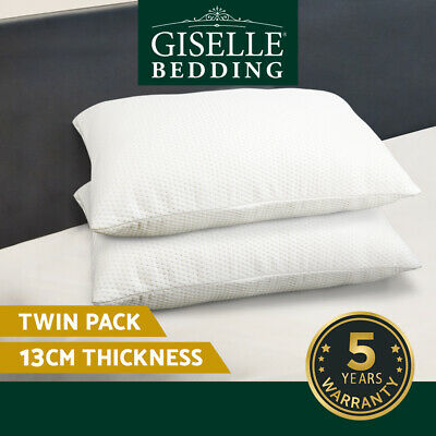 Giselle Bedding 2X Pack Deluxe Visco Elastic Memory Foam Pillow Home Hotel 13cm