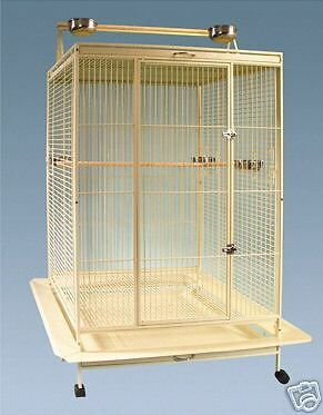 "Parrot  Bird Cage Extra Large Playtop 40""Lx30""Wx71""H Macaw Cockatoo African Grey"