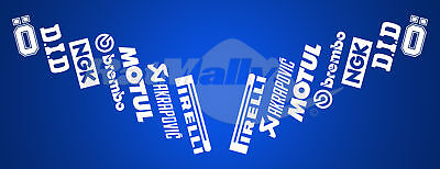 MOTORCYCLE CAR SPONSOR STACK v3 RACE DECALS STICKERS GRAPHICS **SINGLE PACK