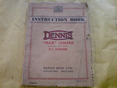 Dennis Max Chassis With 4Cyl C I Engine Instruction Book