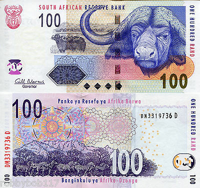 SOUTH AFRICA 100 Rand Banknote World Paper Money UNC Currency Pick p-131b Zebras