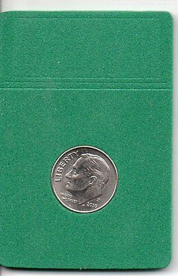 (25) Dime Sized Bcw Foam Coin Slab Inserts-Green